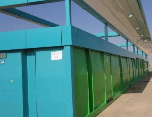 Krampitz gas station container, office and shop container in Saudi Arabia